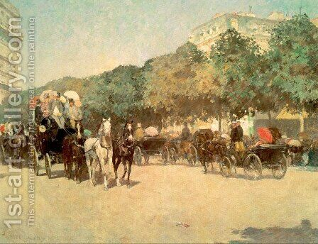 Grand Prix Day 1887 by Childe Hassam - Reproduction Oil Painting
