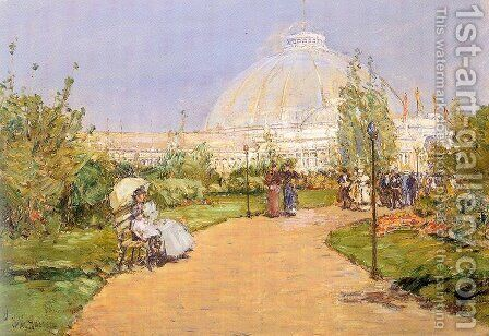 Horticultural Building, World's Columbian Exposition, Chicago 1893 by Childe Hassam - Reproduction Oil Painting