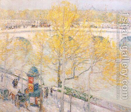 Pont Royal, Paris 1897 by Childe Hassam - Reproduction Oil Painting