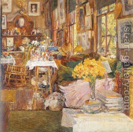 The Room of Flowers 1894 by Childe Hassam - Reproduction Oil Painting