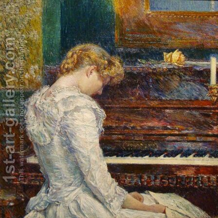 The Sonata 1893 by Childe Hassam - Reproduction Oil Painting