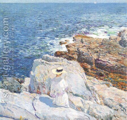 The South Ledges, Appledore 1913 by Childe Hassam - Reproduction Oil Painting