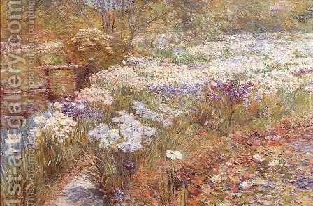 The Winter Garden 1909 by Childe Hassam - Reproduction Oil Painting