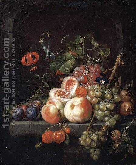 Still-Life of Fruit 2 by Cornelis De Heem - Reproduction Oil Painting