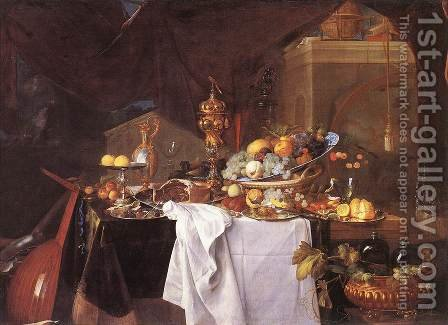 A Table of Desserts 1640 by Jan Davidsz. De Heem - Reproduction Oil Painting
