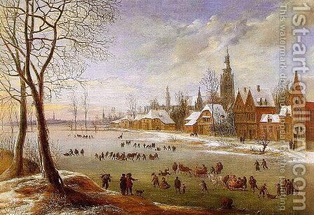 The Pleasures of Winter by Daniel van Heil - Reproduction Oil Painting