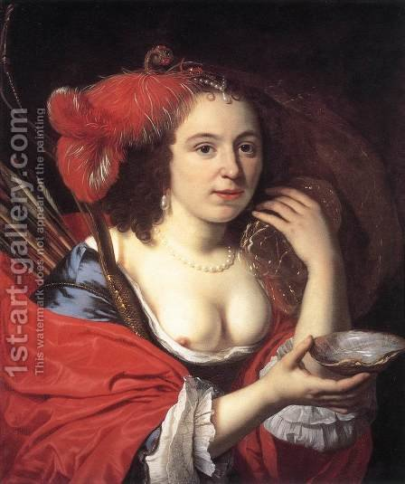 Anna du Pire as Granida 1660 by Bartholomeus Van Der Helst - Reproduction Oil Painting