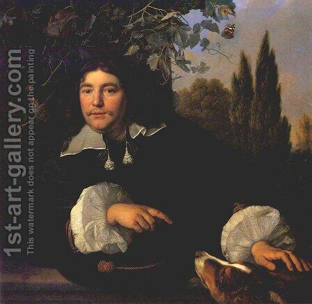 Self-portrait 1655 by Bartholomeus Van Der Helst - Reproduction Oil Painting