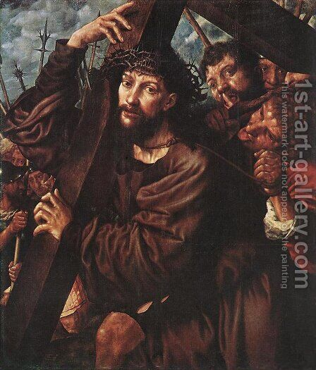 Christ Carrying the Cross 1553 by Jan Sanders Van Hemessen - Reproduction Oil Painting
