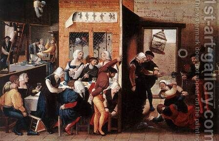 Merry Company by Jan Sanders Van Hemessen - Reproduction Oil Painting