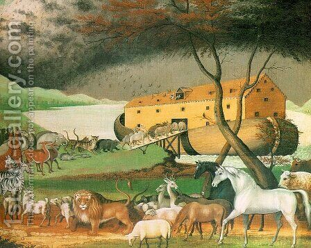 Noah's Ark 1846 by Edward Hicks - Reproduction Oil Painting