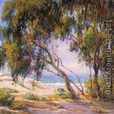 Beside the Sea- Laguna Beach  1921 by Anna Althea Hills - Reproduction Oil Painting