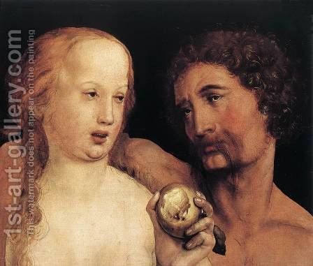Adam and Eve 1517 by Hans, the Younger Holbein - Reproduction Oil Painting
