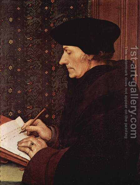 Erasmus 1523 by Hans, the Younger Holbein - Reproduction Oil Painting
