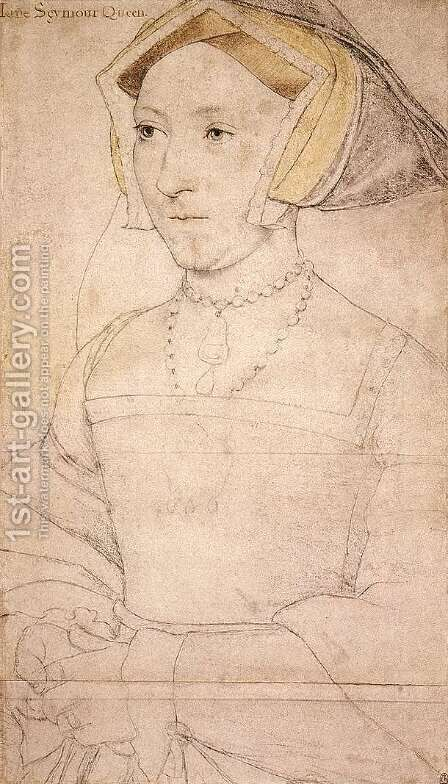 Jane Seymour  1536-37 by Hans, the Younger Holbein - Reproduction Oil Painting