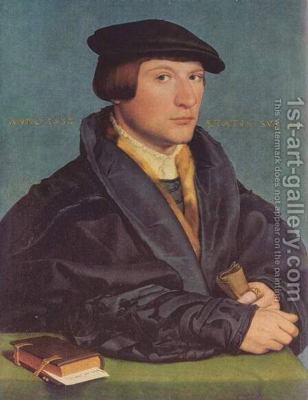Portrait of a Member of the Wedigh Family 1532 by Hans, the Younger Holbein - Reproduction Oil Painting