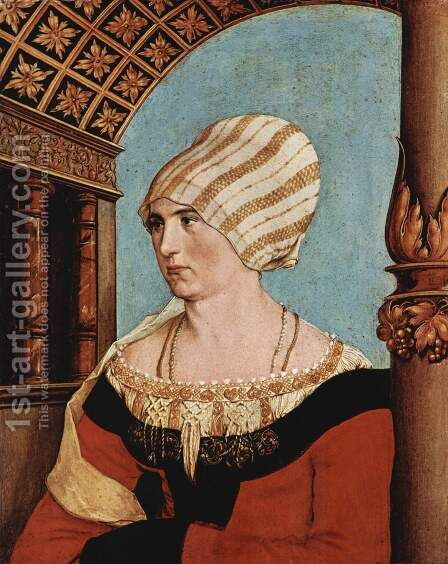 Portrait of Dorothea Meyer (nee Kannengiesser) 1516 by Hans, the Younger Holbein - Reproduction Oil Painting