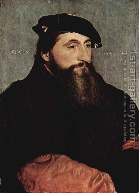 Portrait of Duke Antony the Good of Lorraine c. 1543 by Hans, the Younger Holbein - Reproduction Oil Painting