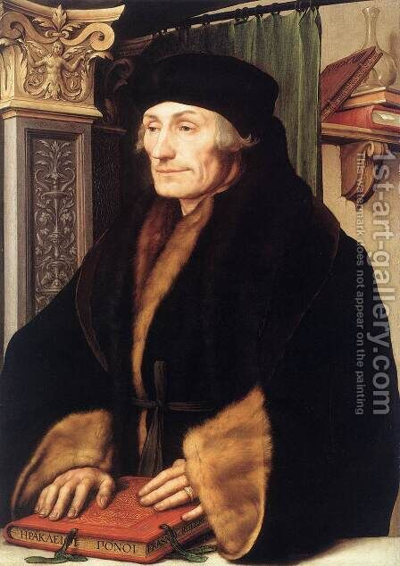Portrait of Erasmus of Rotterdam 1523 by Hans, the Younger Holbein - Reproduction Oil Painting