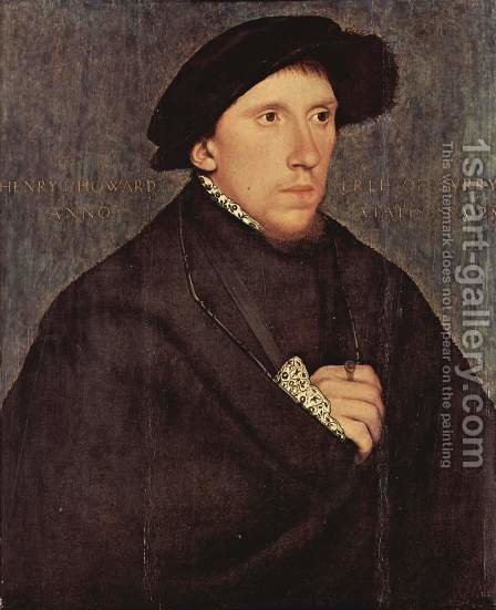 Portrait of Henry Howard, the Earl of Surrey 1541-43 by Hans, the Younger Holbein - Reproduction Oil Painting