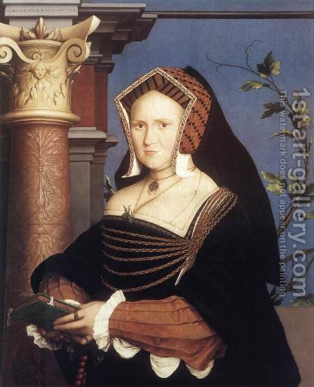 Portrait of Lady Mary Guildford 1527 by Hans, the Younger Holbein - Reproduction Oil Painting