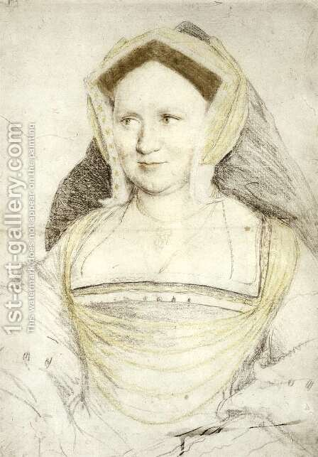Portrait of Lady Mary Guildford c. 1527 by Hans, the Younger Holbein - Reproduction Oil Painting
