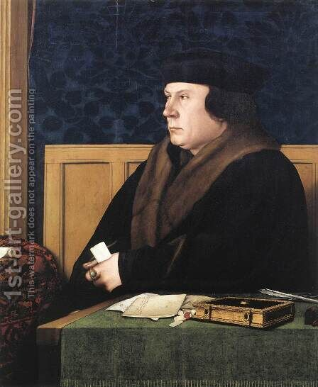Portrait of Thomas Cromwell c. 1533 by Hans, the Younger Holbein - Reproduction Oil Painting
