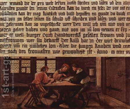 Signboard for a Schoolmaster 1516 by Hans, the Younger Holbein - Reproduction Oil Painting