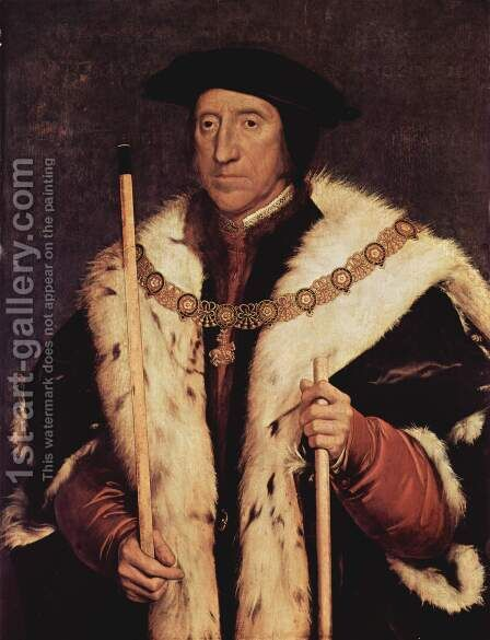 Thomas Howard, Prince of Norfolk 1539-40 by Hans, the Younger Holbein - Reproduction Oil Painting