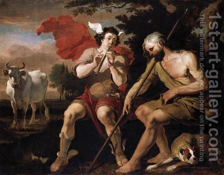 Mercury and Argos by Abraham Danielsz. Hondius - Reproduction Oil Painting