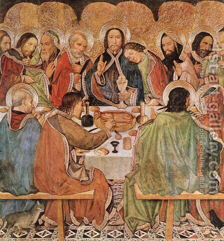 Last Supper c. 1470 by Jaume Huguet - Reproduction Oil Painting