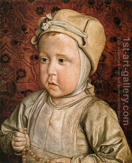 The Dauphin Charles-Orlant by Master of Moulins  (Jean Hey) - Reproduction Oil Painting
