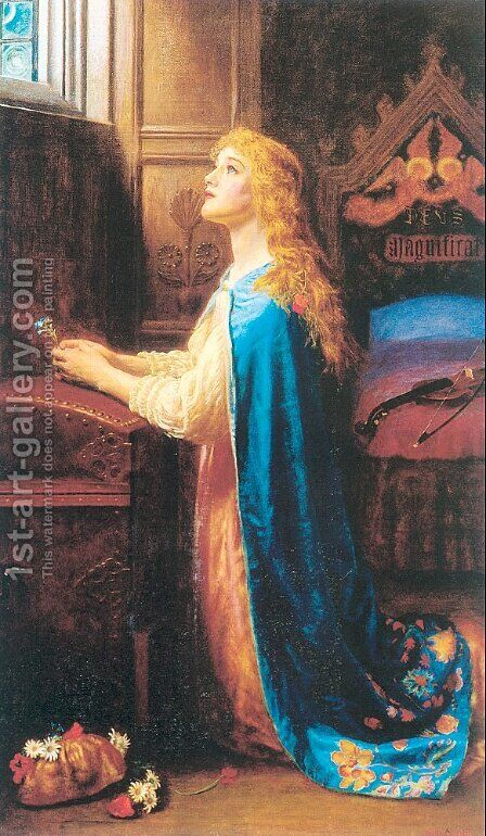 Forget Me Not 1901-02 by Arthur Hughes - Reproduction Oil Painting