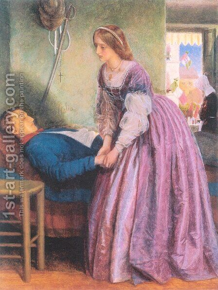 That Was a Piedmontese 1861-62 by Arthur Hughes - Reproduction Oil Painting