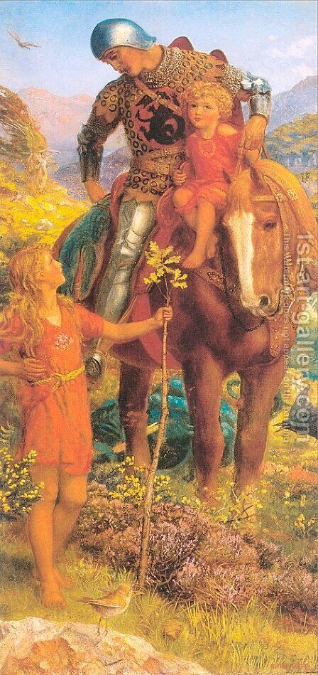 The Rescue (right panel of diptych- location of lefthand panel unknown) 1907-08 by Arthur Hughes - Reproduction Oil Painting