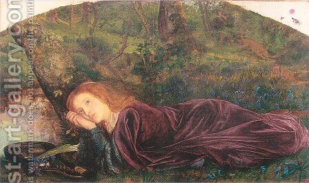 The Rift within the Lute 1861-62 by Arthur Hughes - Reproduction Oil Painting