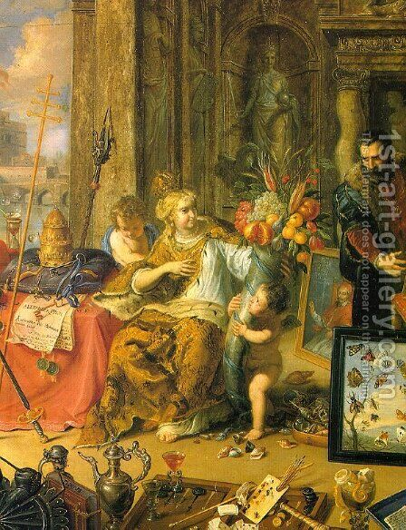 Europe (central panel, detail) 1664-66 by Jan van Kessel - Reproduction Oil Painting