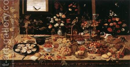 Still-Life by Jan van Kessel - Reproduction Oil Painting