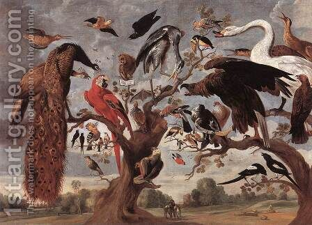 The Mockery of the Owl by Jan van Kessel - Reproduction Oil Painting