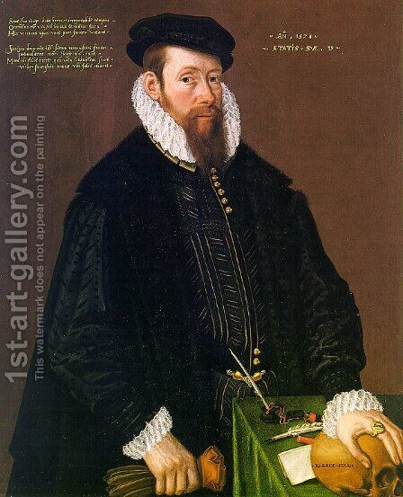 Portrait of Thomas Pead  1578 by Cornelis Ketel - Reproduction Oil Painting
