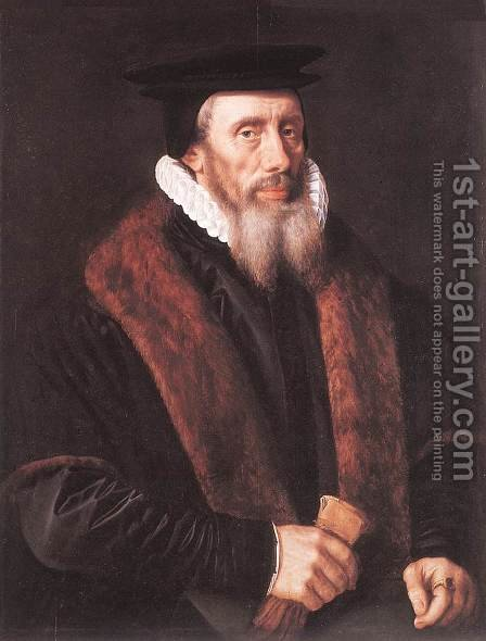 Portrait of a Man c. 1580 by Adriaan Key - Reproduction Oil Painting