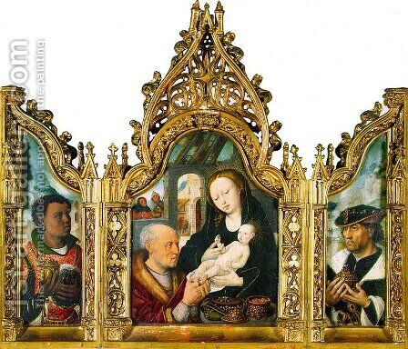 Adoration of the Magi Triptych by Master of the Khanenko Adoration - Reproduction Oil Painting