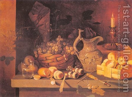 Still Life with a Candle by Ivan Khrutsky - Reproduction Oil Painting