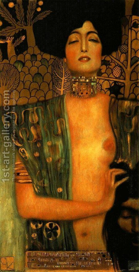 Judith I  1901 by Gustav Klimt - Reproduction Oil Painting