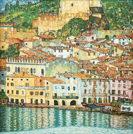 Malcesine on Lake Garda  1913 by Gustav Klimt - Reproduction Oil Painting