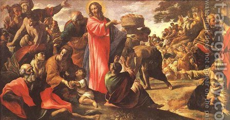 Miracle of the Bread and Fish 1620-23 by Giovanni Lanfranco - Reproduction Oil Painting