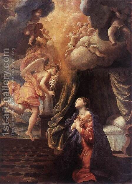 St Ursula and the Virgins  1622 2 by Giovanni Lanfranco - Reproduction Oil Painting