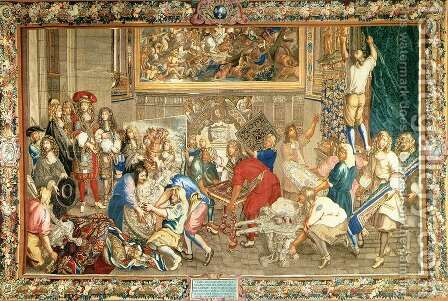 Louis XIV Visiting the Gobelins Factory  1673 by Charles Le Brun - Reproduction Oil Painting