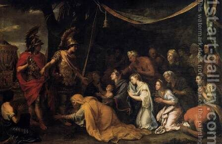 The Family of Darius before Alexander c. 1660 by Charles Le Brun - Reproduction Oil Painting