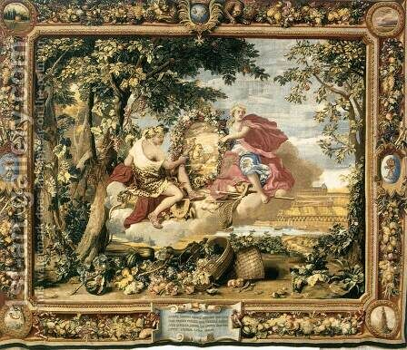 The Seasons- Autumn  1664 by Charles Le Brun - Reproduction Oil Painting